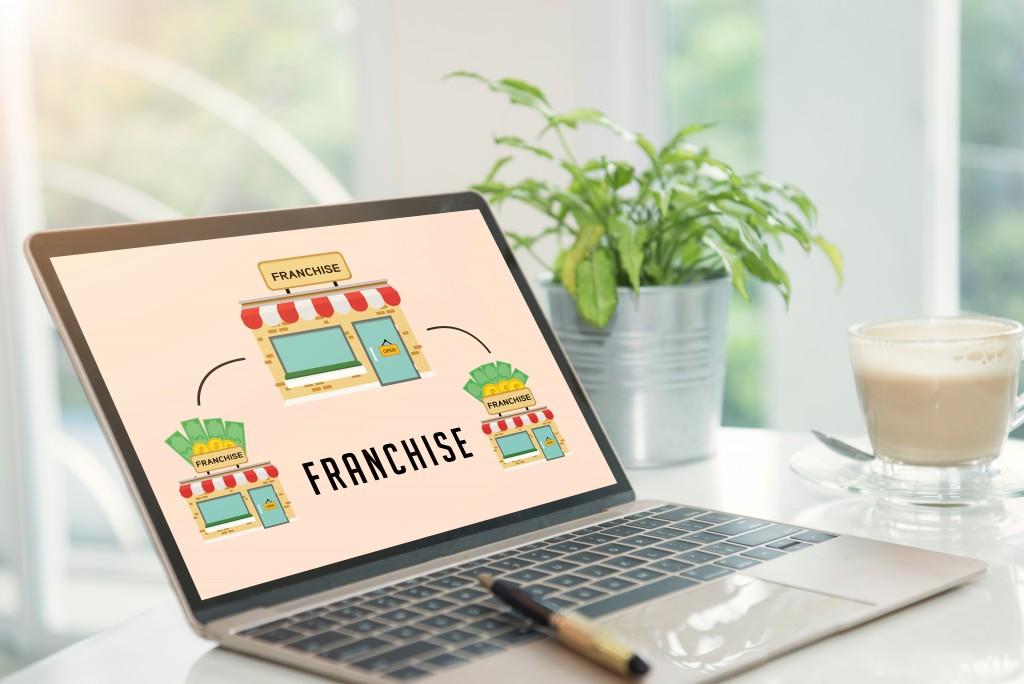 franchise model on a laptop screen